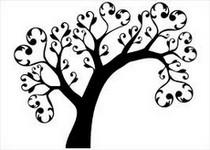 """Оригинал схемы вышивки  """"Дерево любви."""